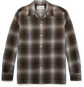 Wacko Maria Camp-Collar Checked Voile Shirt