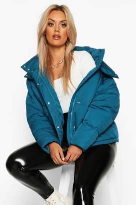 boohoo Plus Funnel Neck Puffer Jacket