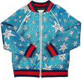 Gucci Kids' Starry Sky Sequined Bomber Jacket