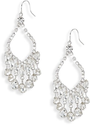 CRISTABELLE Crystal Open Chandelier Earrings