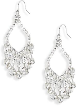CRISTABELLE Crystal Open Chandelier Earrings