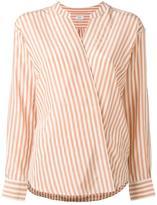 Closed striped wrap shirt