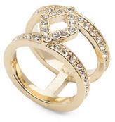 Ivanka Trump 10K Goldplated White Metal Open Pave Ring