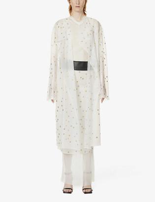 Hyun Mi Nielsen Eyelet-embellished shell coat