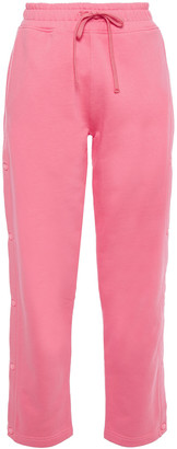 Les Girls Les Boys Printed French Cotton-terry Track Pants