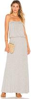 Velvet by Graham & Spencer Fion Strapless Maxi Dress in Gray