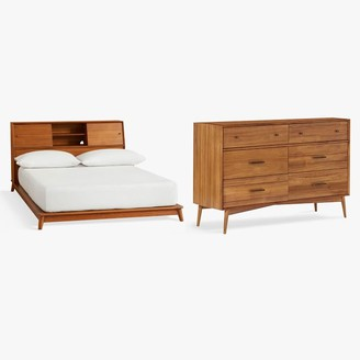 Pottery Barn Teen west elm x pbt Mid-Century Headboard Storage Bed & 6-Drawer Dresser Set