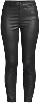 The Kooples Franky Mid-Rise Faux Leather Pants