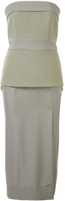 Dion Lee Strapless Belted Midi Dress