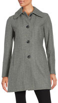 Anne Klein Wool-Blend Button-Front Coat