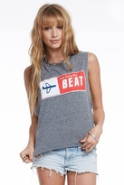 Chaser LA The Modern Beat Logo Classic Tank in Streaky Grey