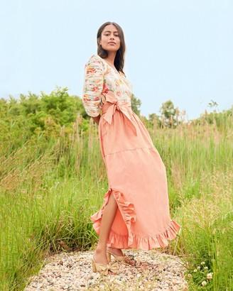Loeffler Randall Frederika Ruffle Skirt Blush