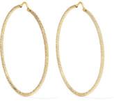 Carolina Bucci Large 18-karat Gold Hoop Earrings