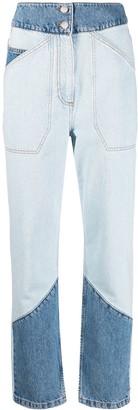 BA&SH Apolo high-waisted patchwork jeans
