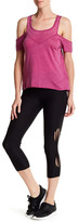 Steve Madden Strappy Cutout Crop Leggings