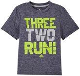 adidas Three Two Run Tee (Toddler/Kid) - Dark Gray Heather - 7