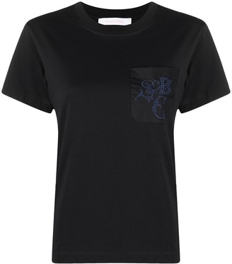 See by Chloe patch pocket short-sleeved T-shirt