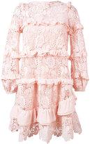 No.21 macrame lace dress