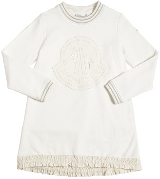 Moncler Embroidered Logo Cotton Dress