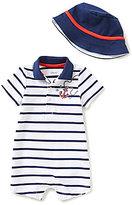 Little Me Baby Boys 3-12 Months Anchor-Appliqued Striped Romper & Hat Set