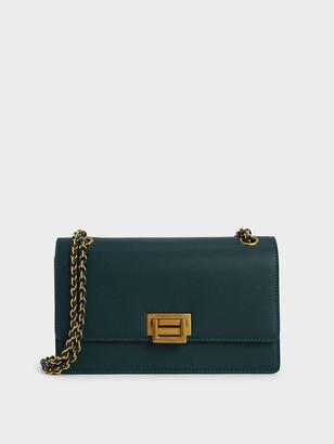 Charles & Keith Chain Strap Push-Lock Shoulder Bag
