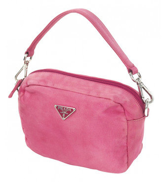 Prada Tessuto Pink Velvet Handbags