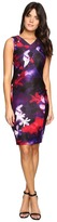 Calvin Klein Printed Sheath w/ V-Neck Dress
