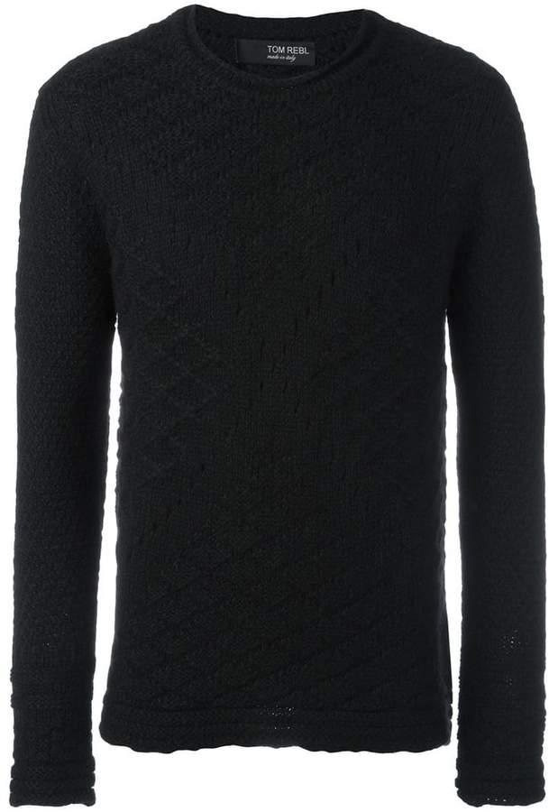 Tom Rebl ジオメトリック柄ニットセーター