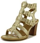 White Mountain Gemmy Open-toe Leather Heels.