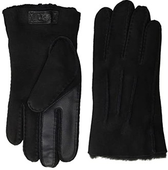 UGG Contrast Water Resistant Sheepskin Tech Gloves (Black) Extreme Cold Weather Gloves