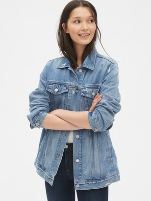 Gap Distressed Oversized Icon Denim Jacket