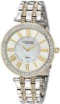 Anne Klein Women's 12/2219MPTT Swarovski Crystal Accented Two-Tone Bracelet Watch