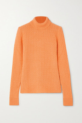 GAUGE81 Cairns Cable-knit Cashmere Turtleneck Sweater - Orange