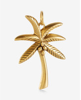 Express Sequin Matte Gold Palm Tree Charm