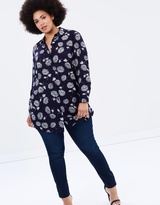 Navy Floral Soft Tee