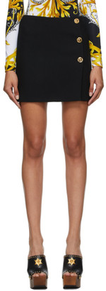 Versace Black Button Skirt
