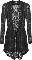 Meaneor Women Long Sleeve Sheer Lace Crochet Open Front Cardigan Tops