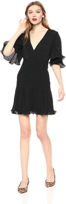Keepsake Women's Clarity Sleeve Vneck Short Mini Dress