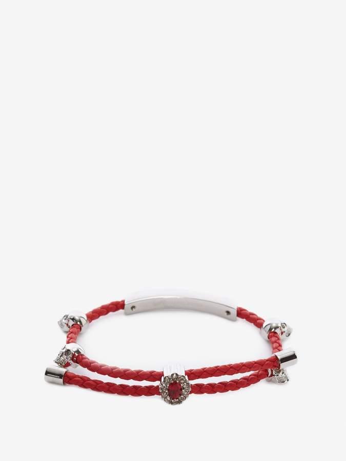 Alexander McQueen Nappa Friendship Skull Bracelet
