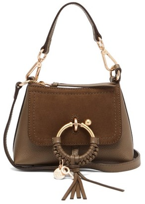 See by Chloe Joan Mini Leather And Suede Cross-body Bag - Khaki