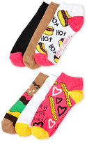 Betsey Johnson 6-Pack Low Cut Burger Socks