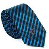 Gianni Versace Mens Geometric Pattern Silk Medusa Tie.