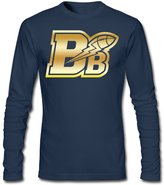 Sarah Men's Winnipeg Blue Bombers Golden Logo Long Sleeve T-shirt XXL