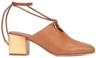 Salvatore Ferragamo wrapped ankle sandals