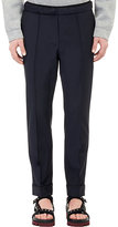 Valentino MEN'S WORSTED ELASTIC-WAIST TROUSERS-NAVY SIZE 50 EU