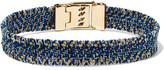 Carolina Bucci Gold-Tone Woven Denim Bracelet