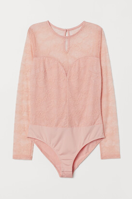 H&M Long-sleeved lace body