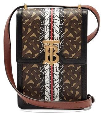 Burberry Valencia Tb-monogram Cross-body Bag - Brown Multi