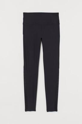 H&M Sports Leggings High Waist - Black