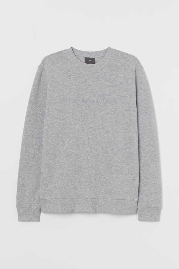 Thumbnail for your product : H&M Sweatshirt with Text Design - Gray